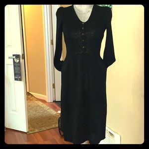 St. John Marie Gray Collection-Black Sweater Dress